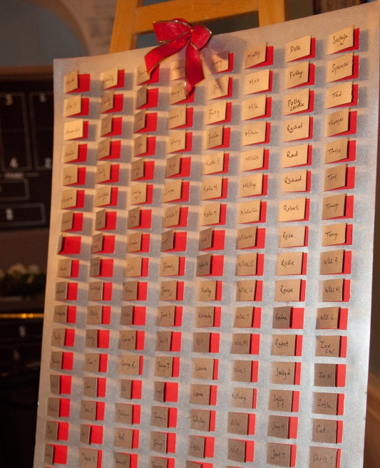 Advent Calendar seating plan