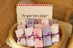 Wedding favours handkerchief