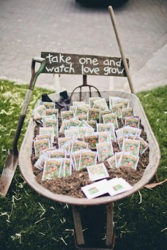 Wedding favours seeds