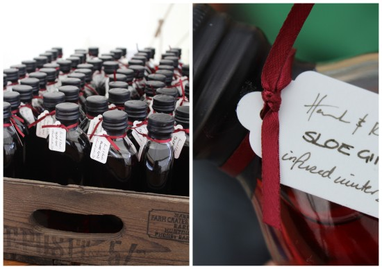Sloe Gin Wedding Favours